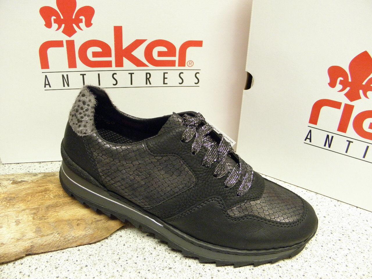 rieker ®  SALE,  schwarz, modisch,  superbequem, Top Preis,  M6920-00 (R265)
