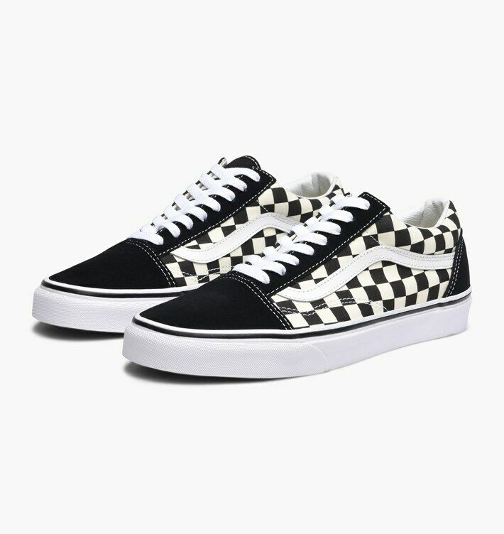 Vans Old Skool Lite Checkerboard Black White Vn0a2z5w5gx W Box Ds Men Sz 8 5 For Sale Online Ebay