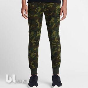 8bdaba607ac1f1 Nike Tech Fleece Camo Pants Herren Trainings Hose Camouflage Jogging ...
