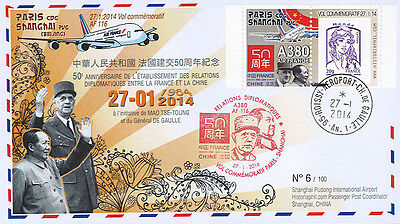 "FFC FRANCE ""50 years Relationship France - China / MAO ZEDONG & DE GAULLE"" 2014"