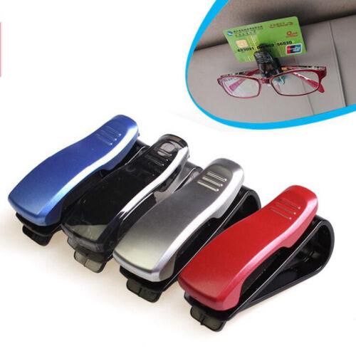 Coche Rojo De Clip Visor De Sol Soporte para Gafas de Lectura Gafas De Sol Gafas tarjeta ZY