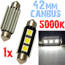 1x Bollen Festoen 42mm 5000K LED 3x5050 White Light Car Number Plate 12V 2D7 2D7