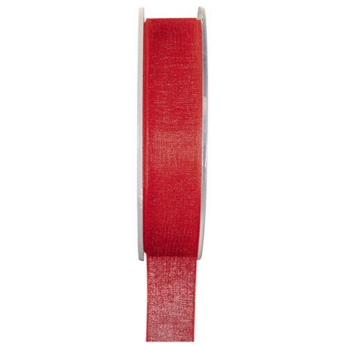 Organzaband 7 mm x20 m bucles banda boda chifón banda banda de regalo 23 colores