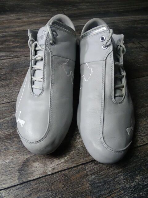 PumaMen's Ferrari Future Cat M1 Sneakers in Gray/Silver 303547 Size 14