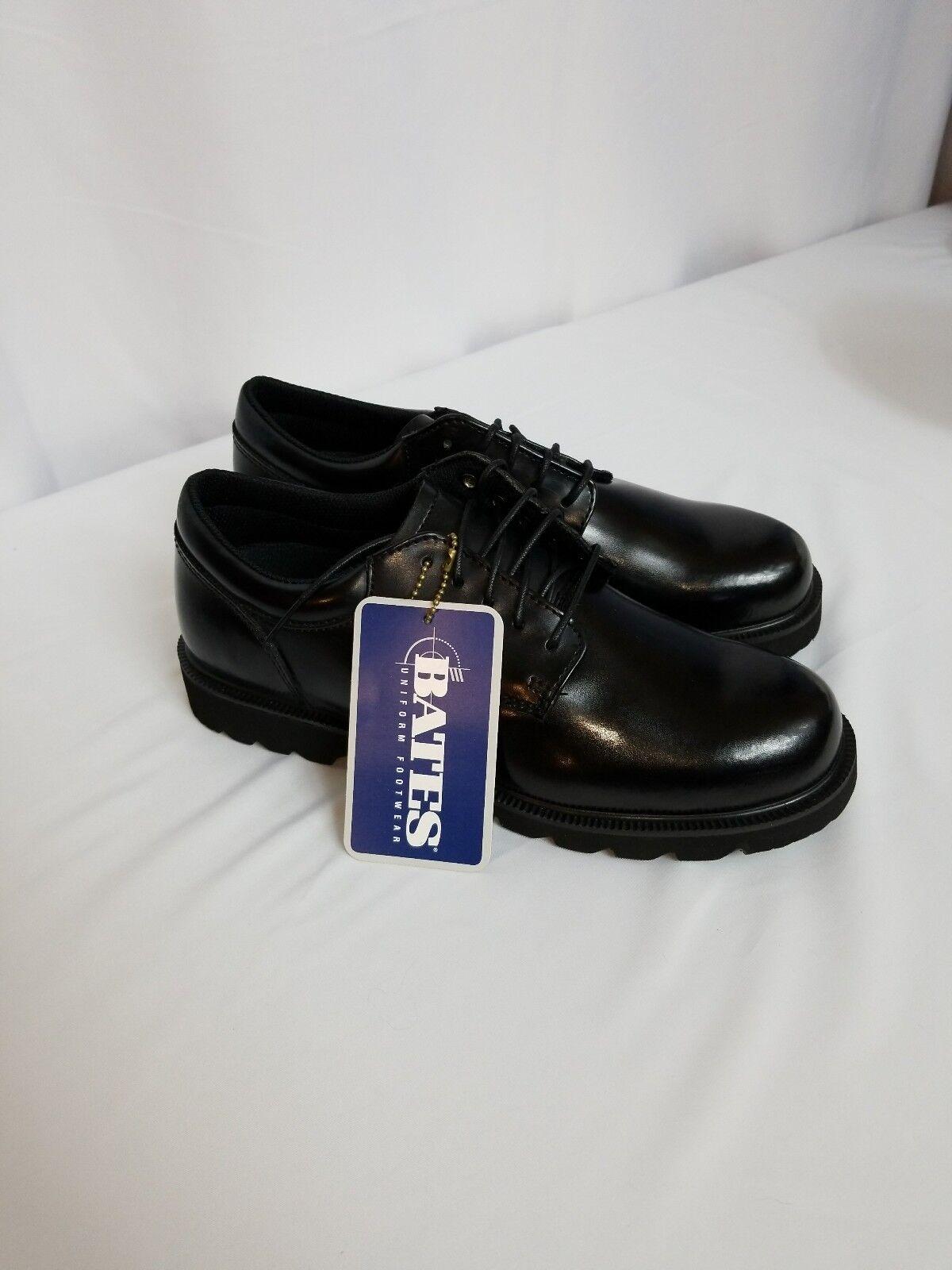 Bates Enforcer Series Black Hi-Gloss Duty OxfordMen s 7.5 M Work/Dress New