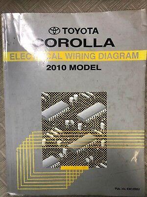 2010 Toyota Corolla Electrical Wiring Diagram Manual OEM ...