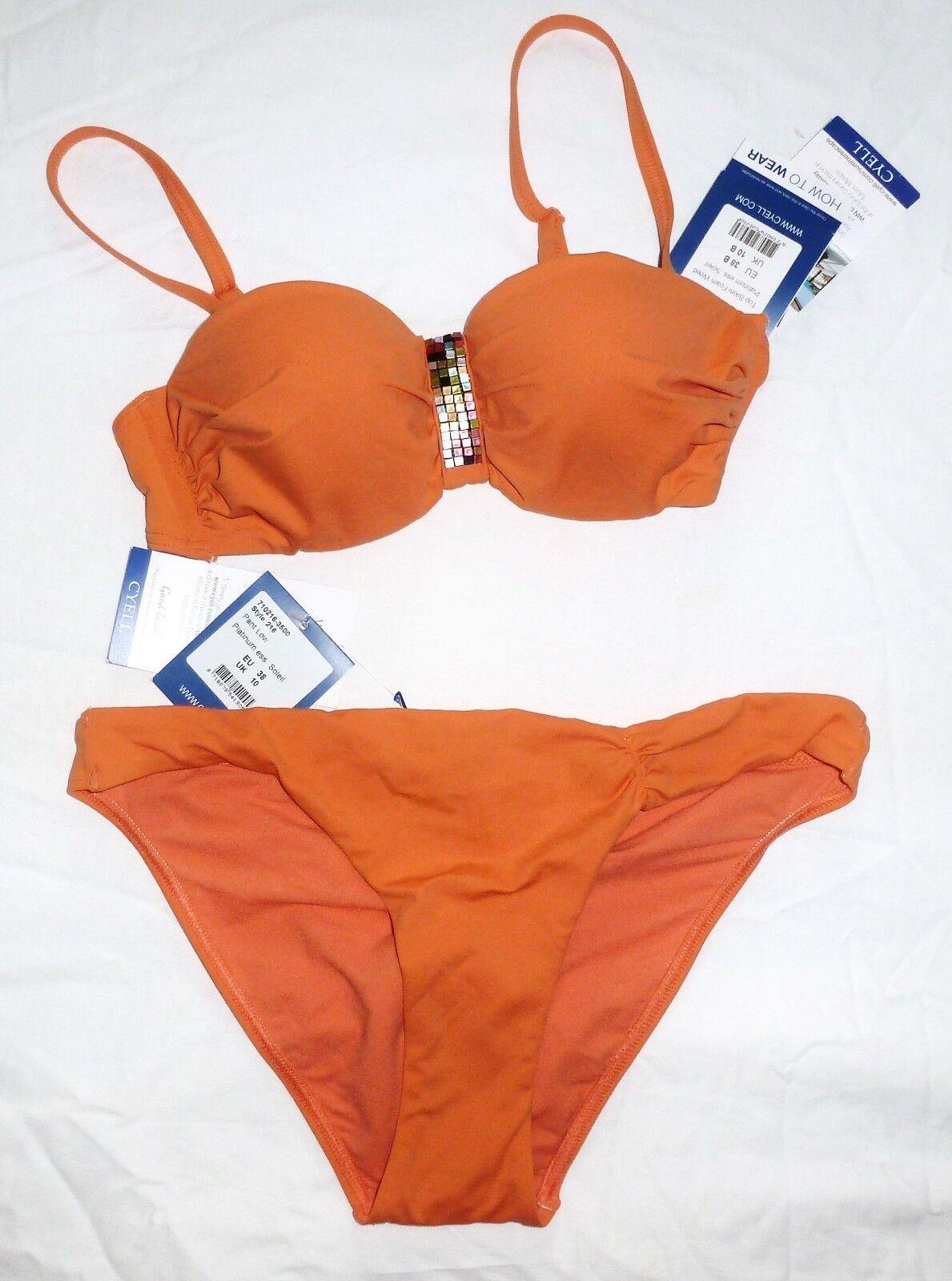 CYELL Platinum Platinum Platinum Ess. Soleil Top Bikini Set 2 Tlg Oberteil & Slip Gr  109 neu | Sofortige Lieferung  | Günstigen Preis  | Viele Stile  | Ermäßigung  | Niedriger Preis  0d4806