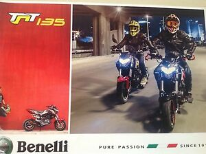 BENELLI-MOTORCYCLE-OFFICIAL-POSTER-2-SIDED-ATTRACTIVE-BARGAIN-YAMAHA-HONDA