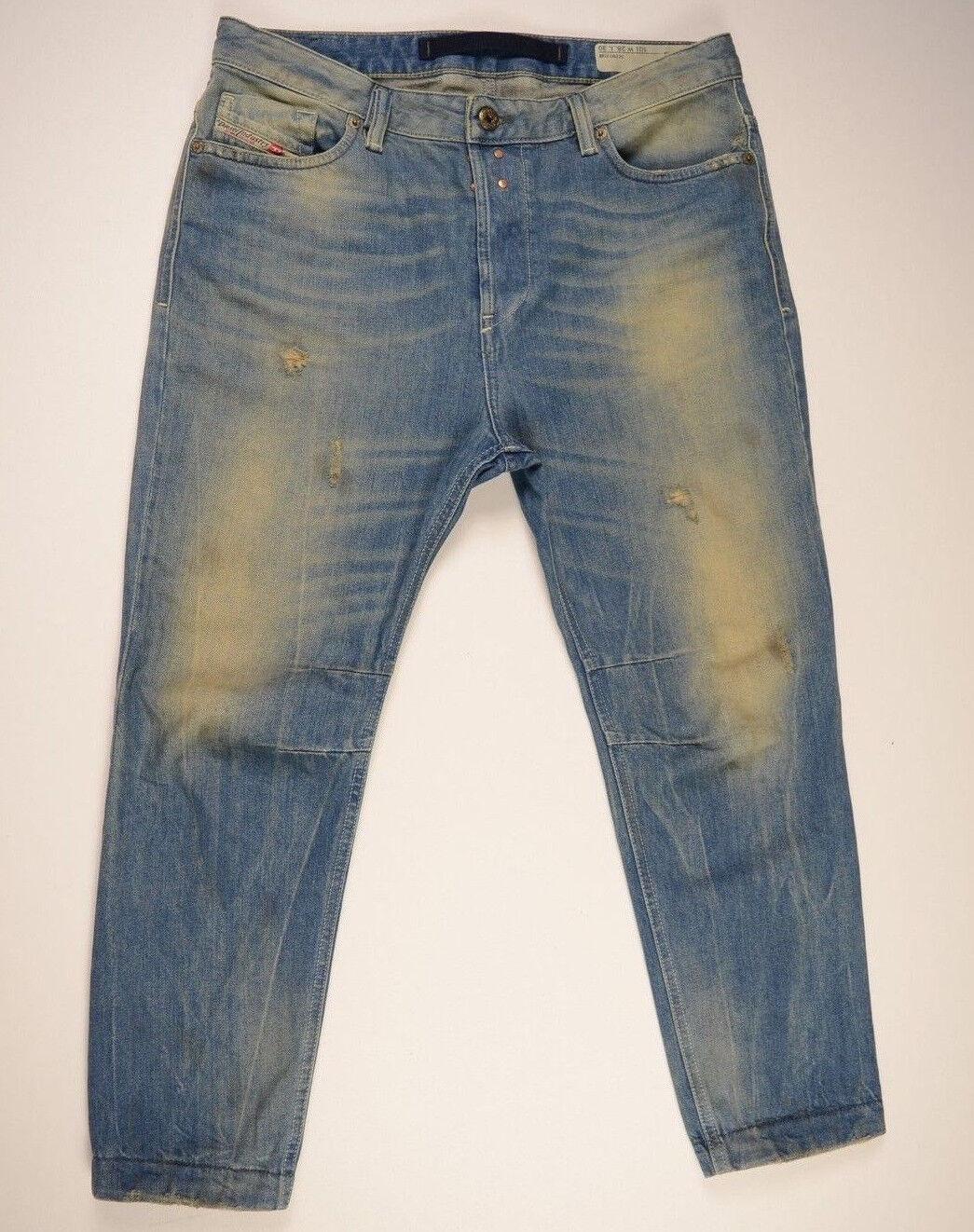 DIESEL Jeans Destroy 'EAZEE 0822C RELAXED-BOYFRIEND' W28 L30 AU10 US6 Womens