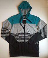Men's Micros Long Sleeve Gray Front Zip Hoodie, Size L