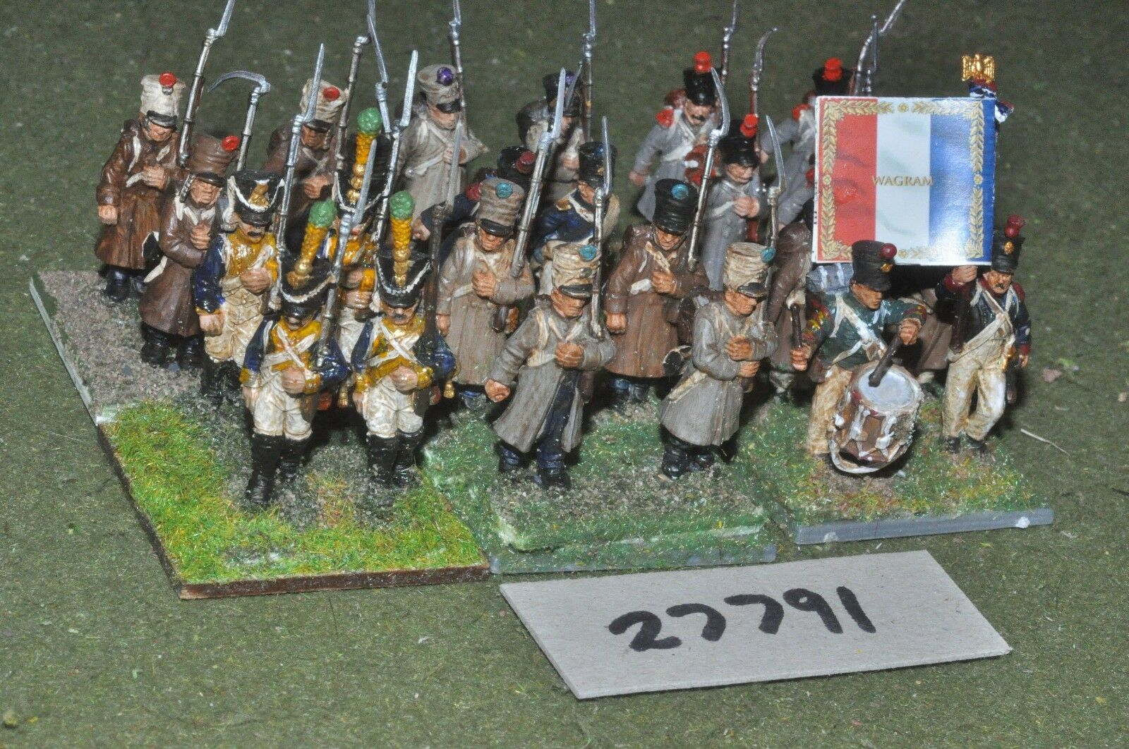 25mm napoleonic   french - regiment (plastic) 24 figures - inf (27791)