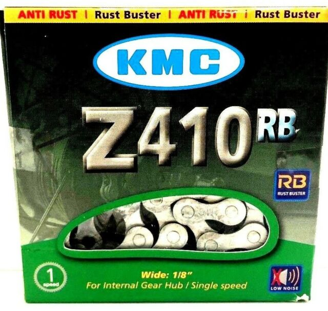 "KMC Z410RB Rust Buster Bike Chain 1/2""x1/8"" 112L 9.3mm Single-Speed BMX Fixed"