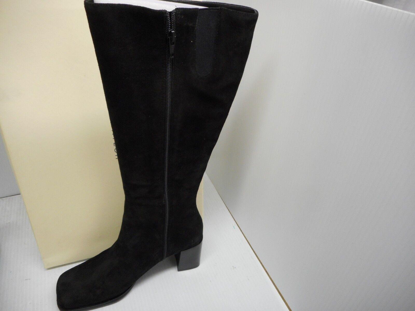 Lord and Taylor bottes noires Taille 8 m de hauteur genou talon en Daim Fermeture Éclair pour femme