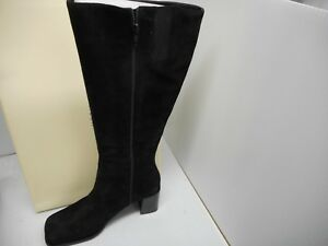 031a0edeed1 Lord And Taylor Black Boots Size 8m Tall Knee heel Suede zipper ...