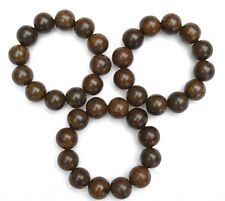 20mm A+ Quality Kalimantan Agarwood Aloeswood Gaharu buaya Beads Bracelet
