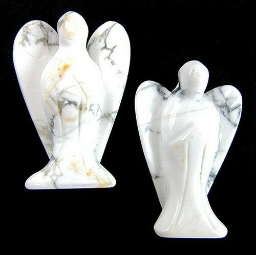 50x32x17mm 2PCS white turquoise carved angel furnishing articles VK10939