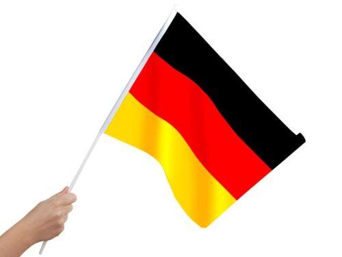 Deutschland Stab-flagge 30x45cm Stabfahne 00/0850 Fahne Fußball EM Stockflagge Fußball