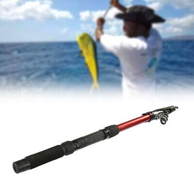 2 Size High Strength Fiberglass Telescopic Fishing Rod Pole For Boat Sea Fishing