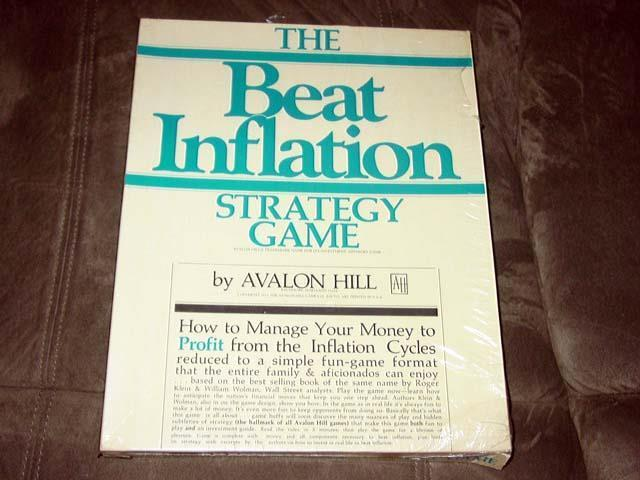 Avalon Hill - The BEAT INFLATION  strategy gioco - Government Failure (SEALED)  forma unica