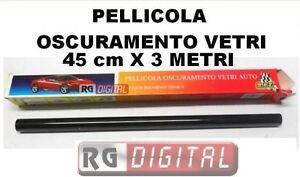 Pellicola Oscurante Per Vetri Auto Nera Antigraffio 50cm X 3m