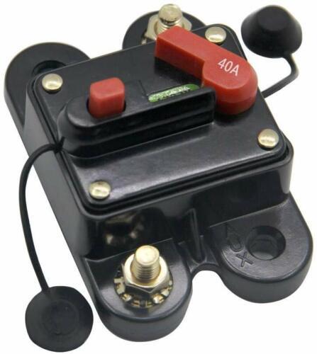 Rkurck 40A 12V-24V Dc Circuit Breaker With Manual Reset For Trolling Motor Auto