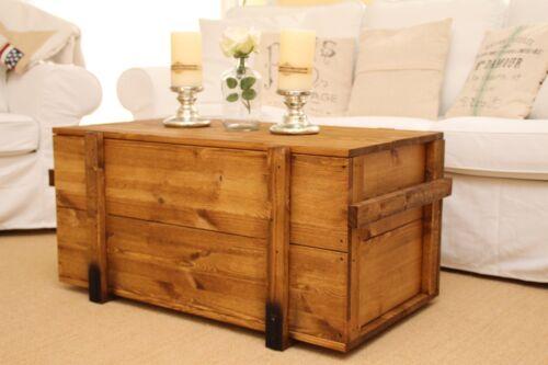 COFFRE TABLE BASSE BOIS MASSIF salon table coffres table Caisse Vintage Shabby M