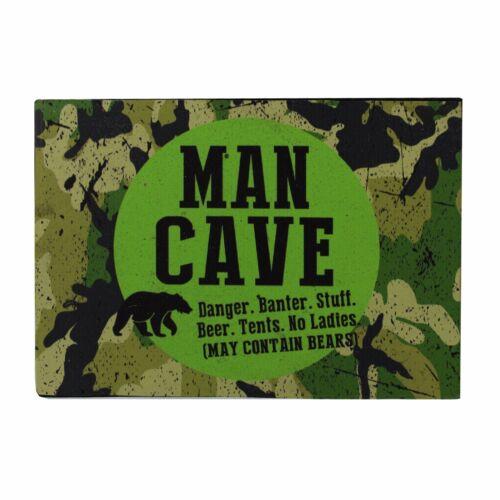 Côté sauvage man cave sign plaque camouflage tasse dans boîte cadeau HM1084