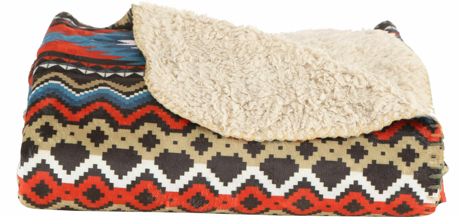 Yukon Outfitters Sherpa Lined  Blanket Aztec Pattern NEW 50  x 60   wholesale price and reliable quality