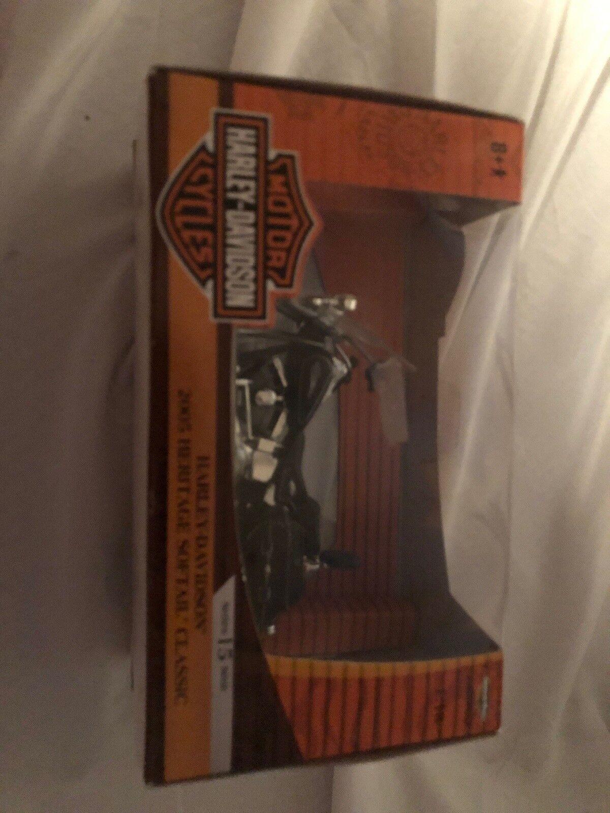 2005 Harley Davidson Patrimonio Softail 1 18, Negro, menta en caja