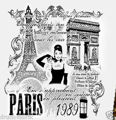 Paris Girly Frauen Damen T-Shirt Rockabella Old School Vintage Mode Eifelturm