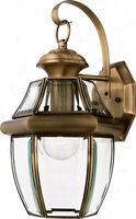 Large Antique Brass Outdoor House Light Porch Deck Lamp Lantern Fixture 100 Watt