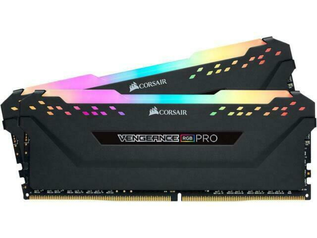 CORSAIR Vengeance RGB Pro 16GB  DDR4 3200  Desktop Memory BK