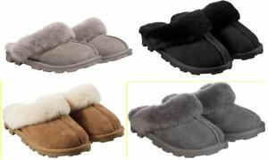 FAST SHIP Kirkland Signature Ladies/' Shearling Slippers Select Size GRAY