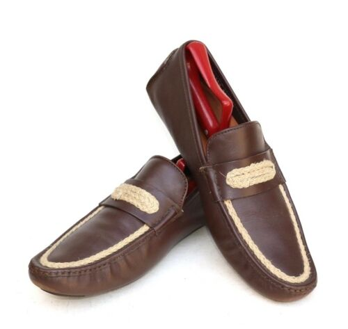 Dolce & Gabbana Italy Brown Leather Penny Loafer D