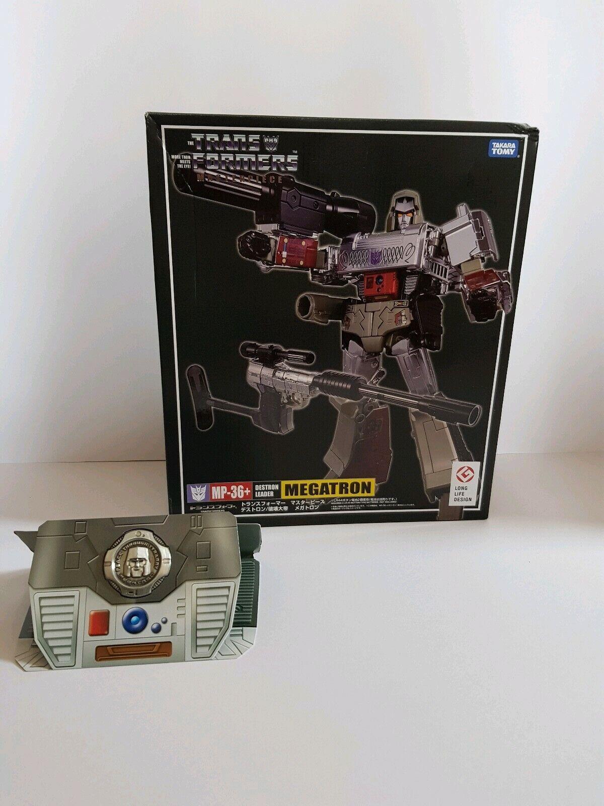 Nuevos Transformers Masterpiece Megatron juguete oficial MP36+ G1 versión basado