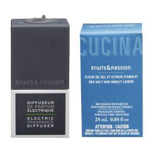 1b8b4d8ffd3e Details about Cucina Sea Salt & Amalfi Lemon Fragrance Diffuser Refill 25  ml and Grey Plug Set