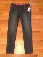 Bongo Pink Stitch Rhinestone Skinny Jeans Juniors 9