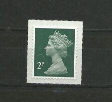 Great Britain Machin 2P 0FNP SA 2B Code M16L De La Rue Gravure Self Adhesive MNH