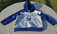 Gymboree Infant Hoodie (blue/gray) - 18-24 Months