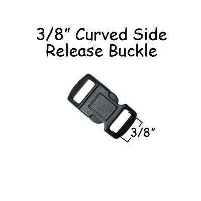 """Pet Collar Parts 10 Curved Side Release Buckles 5//8/"""" Black Plastic Paracord"""