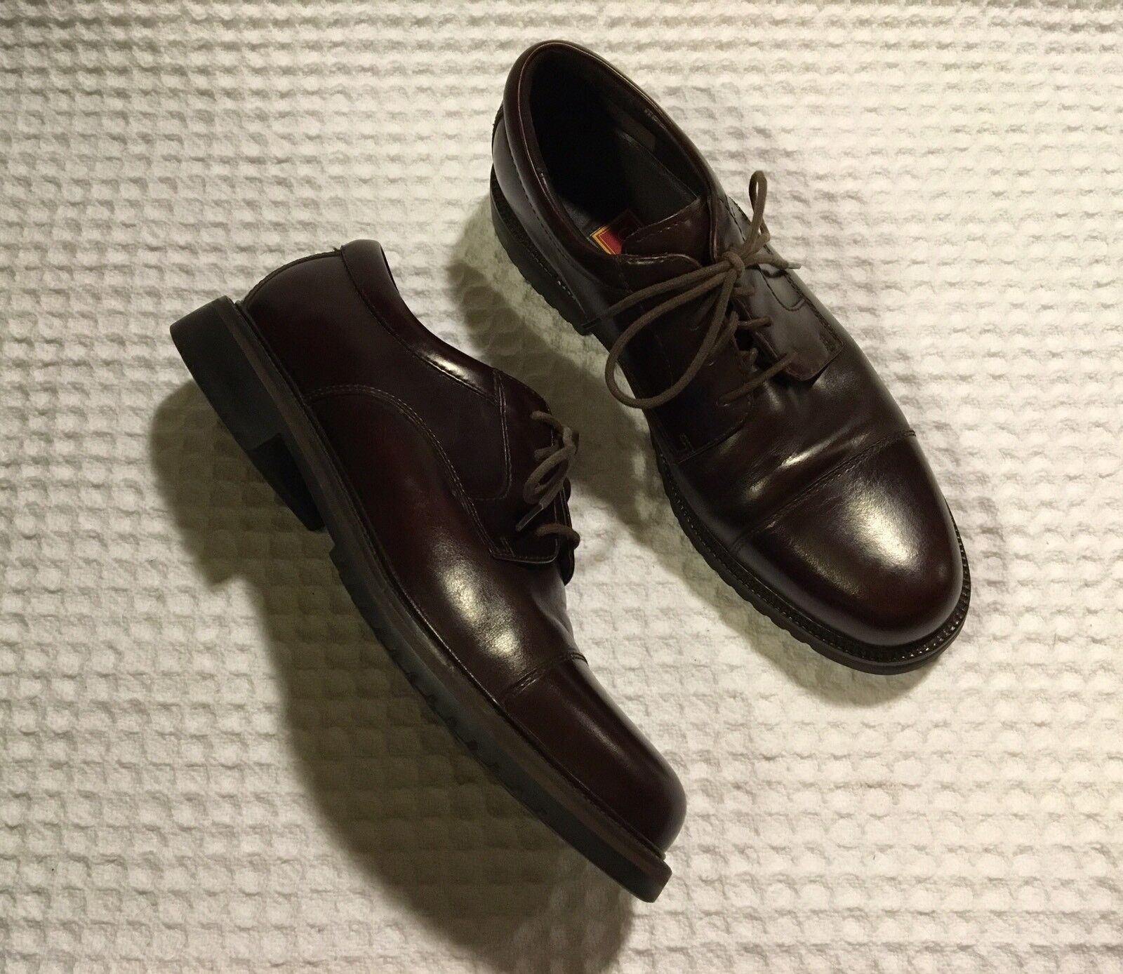 COLE HAAN Country C01920 Waterproof Leather Lace-up shoes Oxfords - Brown 10.5 M