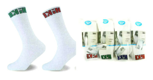 1-12 PAIR MENS  CLASSIC SPORTS SOCKS COTTON RICH THICK HIKE WHITE SPORTS HIKE