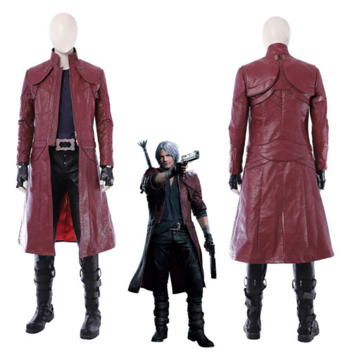 DMC 5 Devil May Cry V Dante Cosplay Costume Red Coat Outfit