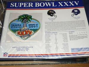 BALTIMORE RAVENS NY GIANTS SUPER BOWL 3 FOOTBALL WILLABEE + WARD PATCH