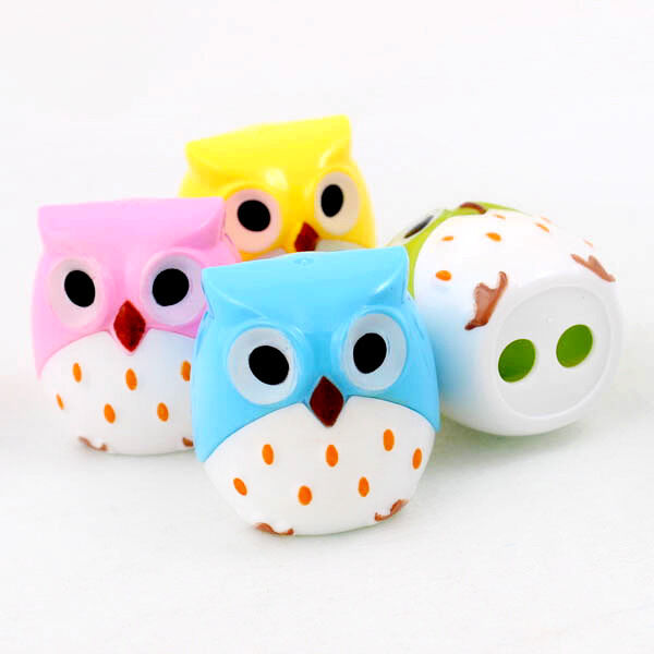 Choices Of Cute Owl Bird Pencil Sharpener Stationary School Kid Design New A0156