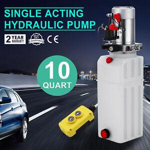 10L-Hydraulikaggregat-Hydraulik-Pumpe-12-V-Volt-Kunststoff-FUNK-Einfachwirkend