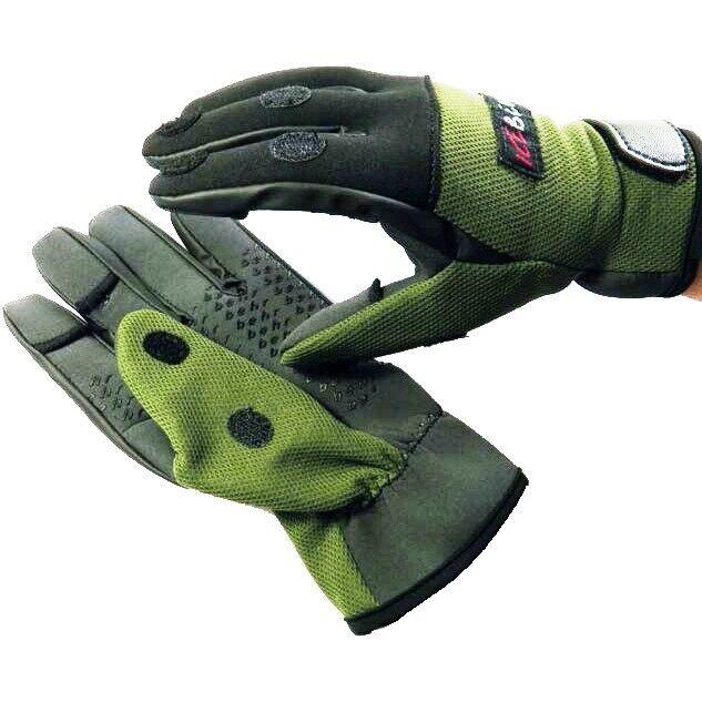 ICE BEHR Titanium-Neopren Angler-Handschuhe Handschuh M-XXL warm Angelhandschuhe