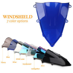 Blue-Plastic-Windshield-Windscreen-Screen-For-2019-2020-Honda-CBR650R-CBR-650-R