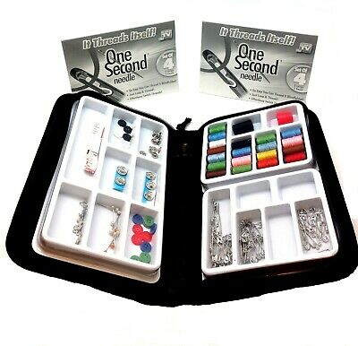 5pk One Second Needle Set of 20 Total Self Thread As Seen On TV Sew Button Patch