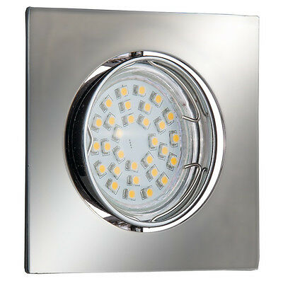 Set Einbaustrahler GU10 Eckig Quadrat Schwenkbar Einbauleuchte LED GtvPk 2